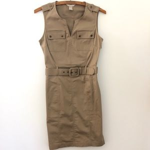 Banana Republic Safari sleeveless Dress belt size0